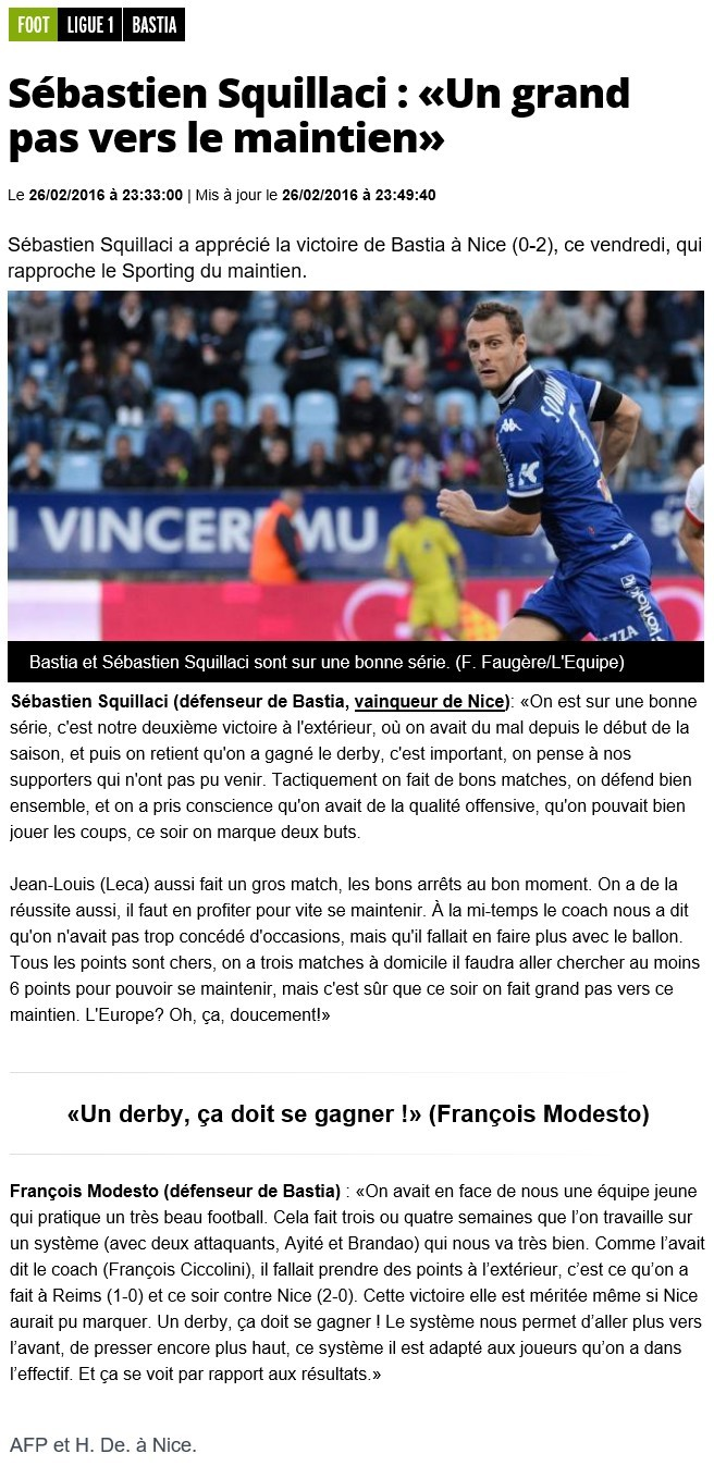 Après match : Nice - Bastia S22