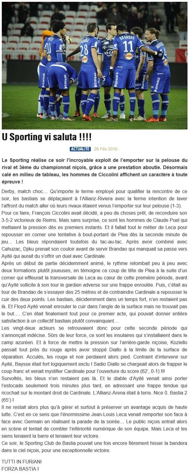 Après match : Nice - Bastia S23