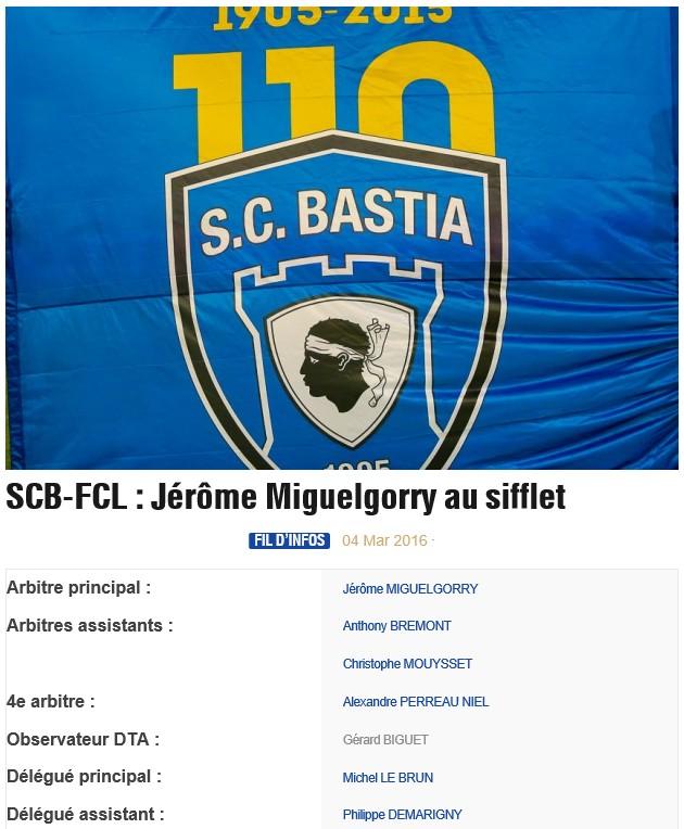 Avant match : Bastia - Lorient S27