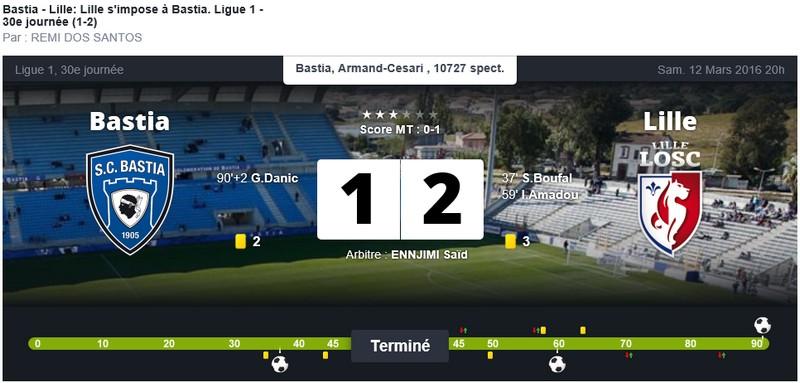 Après match : Bastia - Lille S41