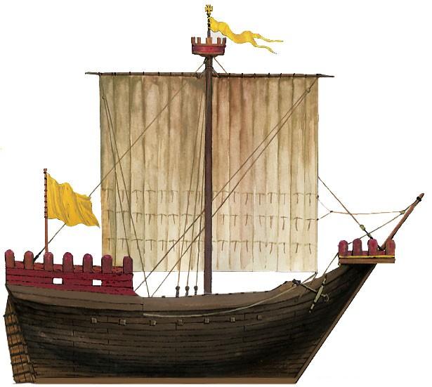 Iconographie pour des nefs médiévales. Clinqu10
