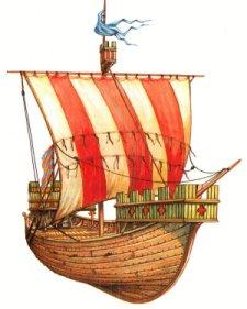 Iconographie pour des nefs médiévales. Nef10