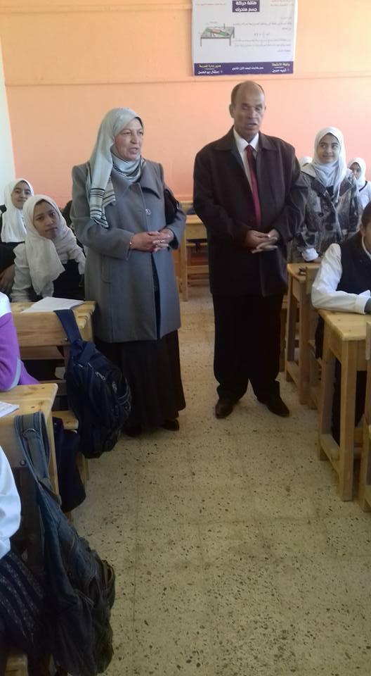 زيارة السيد مدير التعليم العام بالمديرية للمدرسه  120