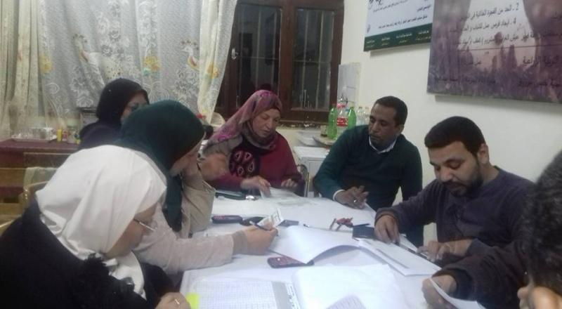 بالصور : السيده الفاضله مديره اداره المدرسه مع  أعضاء الكنترول بمدرسه نجيب محفوظ  158