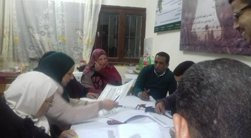 بالصور : السيده الفاضله مديره اداره المدرسه مع  أعضاء الكنترول بمدرسه نجيب محفوظ  256