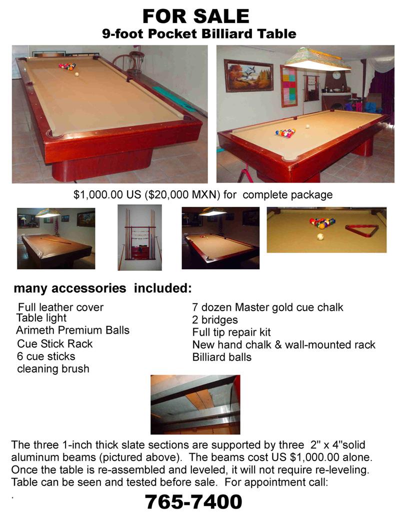 9-foot Pool Table Pool_t12