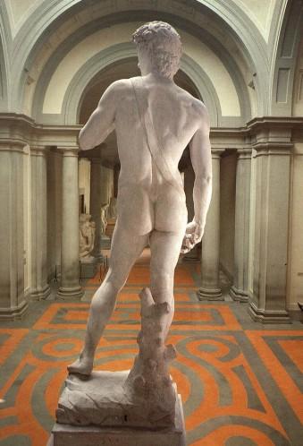 Resistance poids sculpture marbre David-10