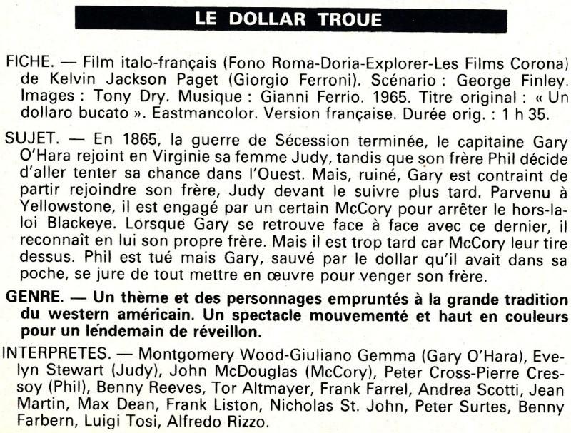 Le Dollar Troué (Un Dollaro Bucato) - 1965 - Giorgio Ferroni Le-dol10