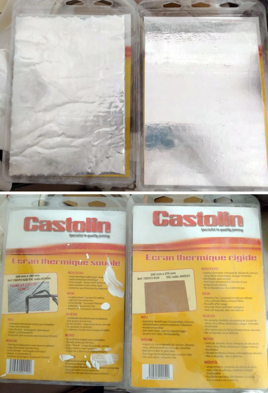 Pare chaleur du support moteur et crémallère Castol10
