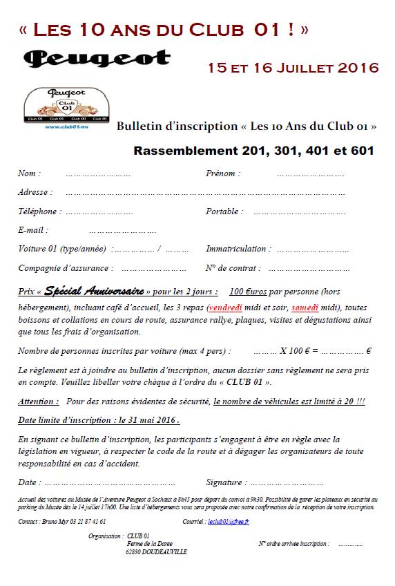 Sochaux 2016 + les 10 ans du Club01 - Page 3 Bullet10