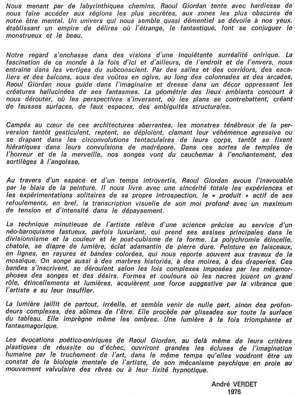 Raoul GIORDAN - L'Oeuvre Dispersée - Page 2 1976_c10