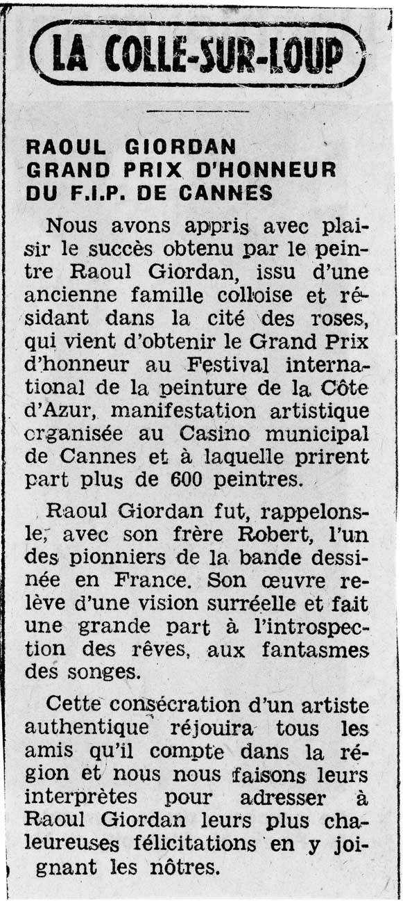 Raoul GIORDAN - L'Oeuvre Dispersée - Page 2 1977_a10