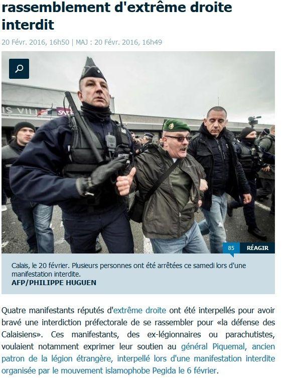 le général Piquemal sort du silence en venant à Calais malgré l'interdiction de la manifestation - arrestation du général Piquemal  - Page 6 2016-010