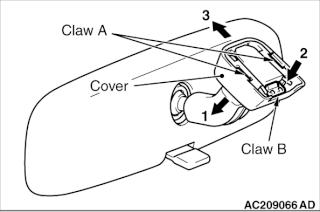 """Specchietto retrovisore interno """"lento"""" Ac209010"""