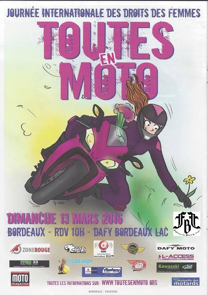 MANIFESTATION - La FBF et toutes en moto le 13-03-16 Bordeaux  12745910