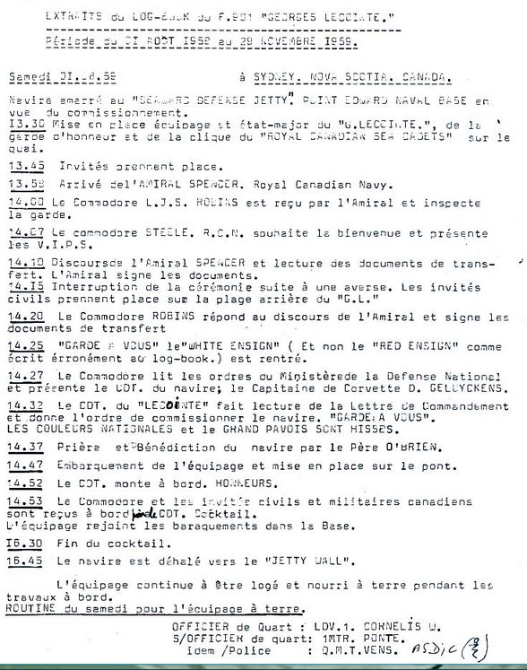 F901 Georges Lecointe (ex HMCS Wallaceburg) - Page 8 Log_bo10