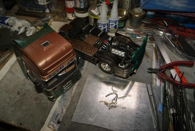 Présentation de ma nouvelle réalisation caravane de forain. Scania28