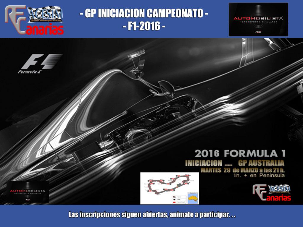 GP INICIACION AL LA TEMPORADA 2016 DE FONE Inicia10
