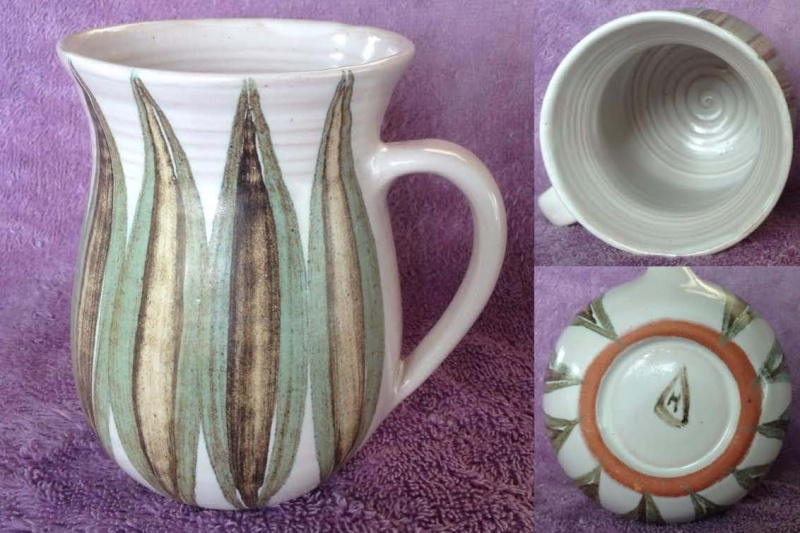 Hanmer Pottery mugs (4,5,6) and bowls (2) Hanmer12