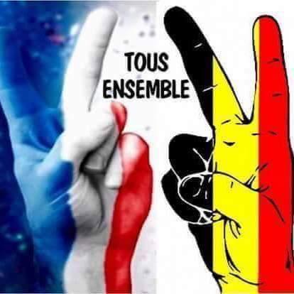 soutien amical à nos amis belges,apres les attentats de Bruxelle 12884510