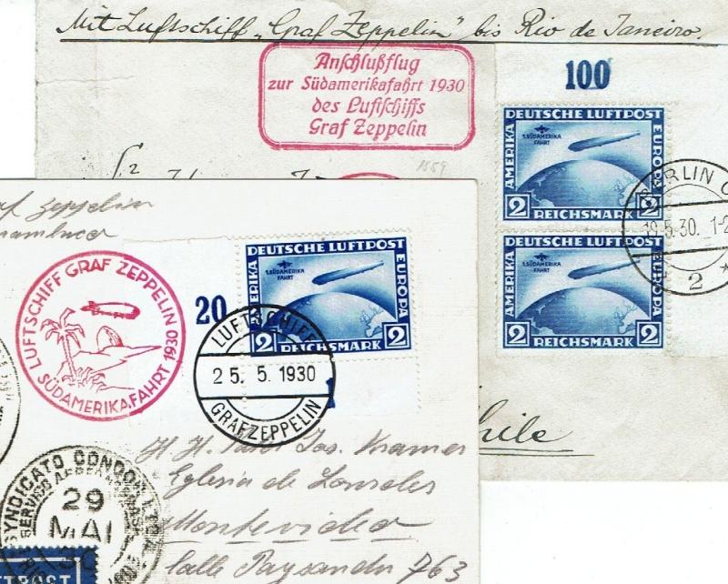 """nach - Südamerikafahrt 1930 (Rundfahrt-) Post nach Friedrichshafen"""" - Seite 6 Eckran10"""