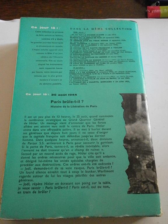 Livre Paris brule t-il 25 Aout 1944 la liberation de paris Livre_33