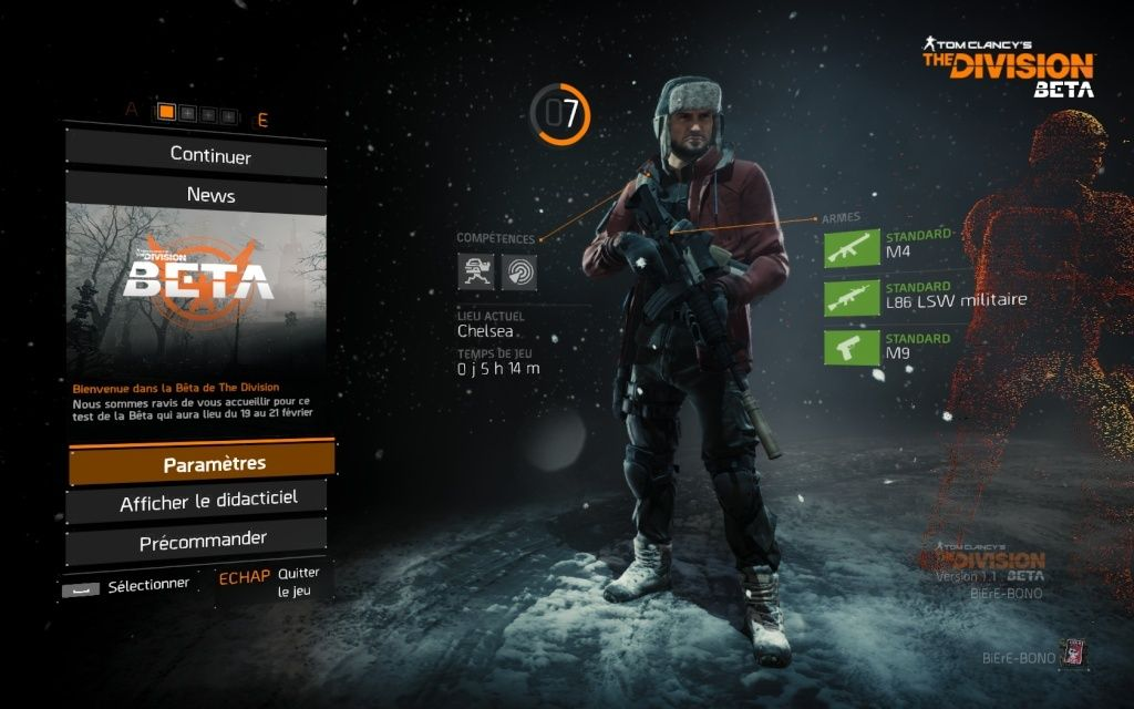Beta : Tom Clancy the division Thediv10