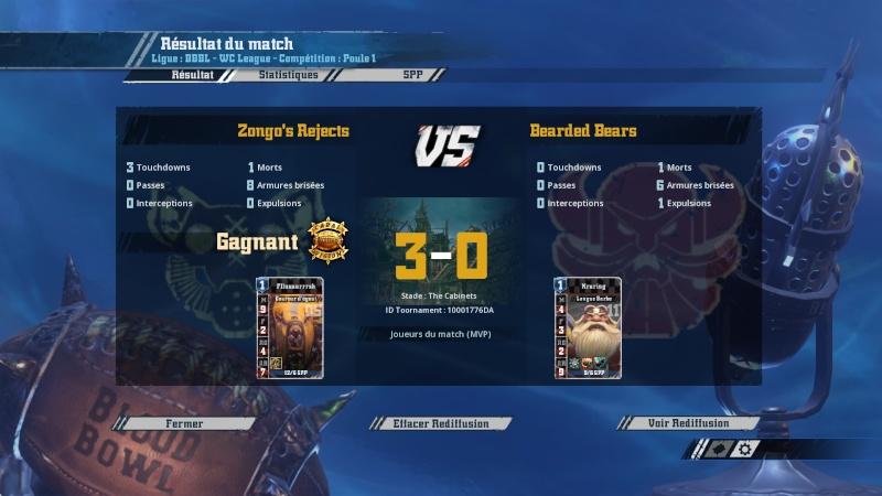 [Zongogo] Zongo's Rejects 3 - 0 Les bons batonnets du Captain [CAPTAIN TOTH] J5 20160312