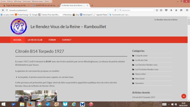 OUVERTURE du site de l'association Le Rendez-Vous de la Reine - Rambouillet Captur12