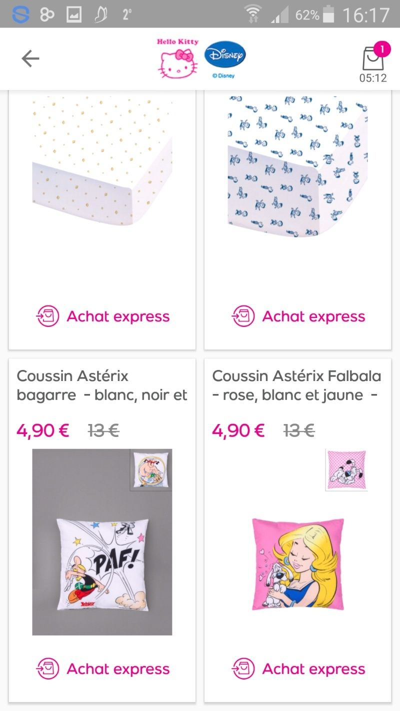 Couettes, coussins Asterix  Screen10