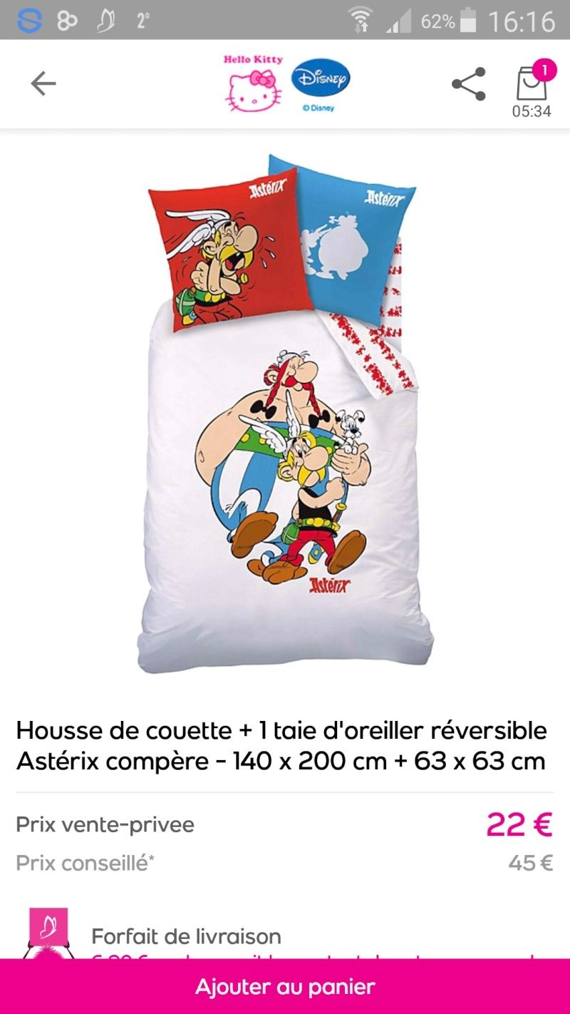 Couettes, coussins Asterix  Screen11