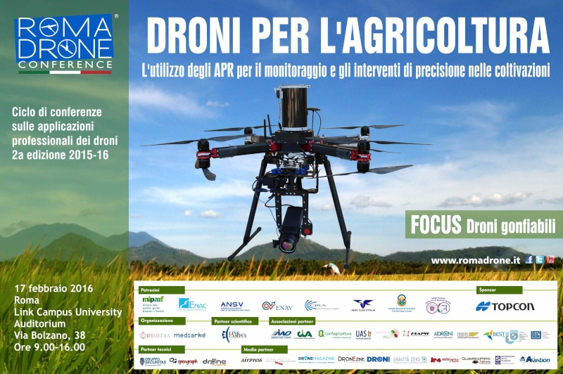 Droni per l'agricoltura Romadr10