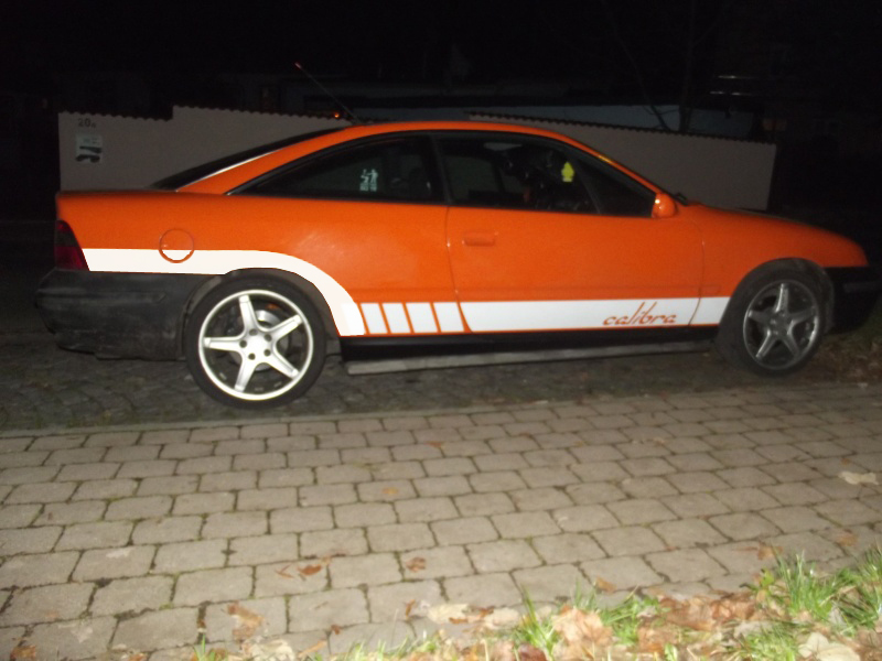 Calibra Aufkleber Fake Orange10