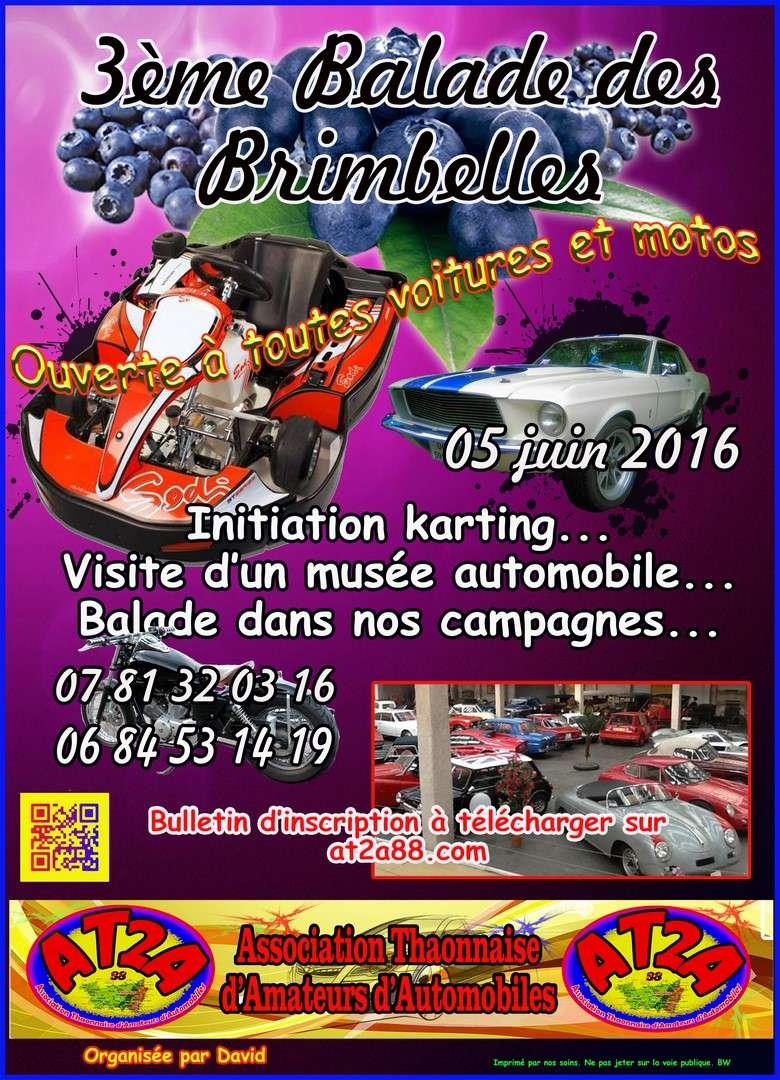 [88][05 juin 2016] 3è Balade des Brimbelles  Affich10