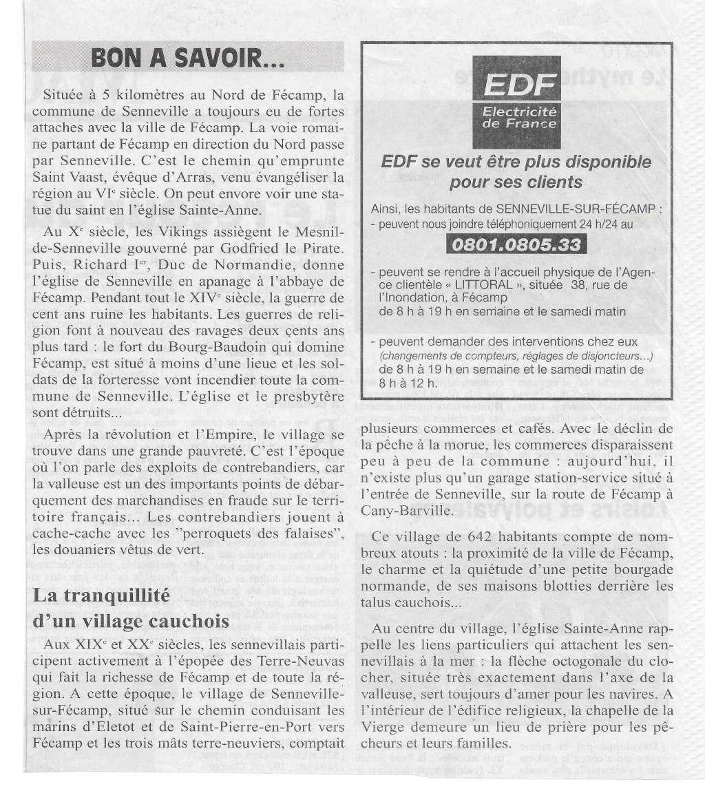 bolbec - Histoire des communes - Senneville-sur-Fécamp 239