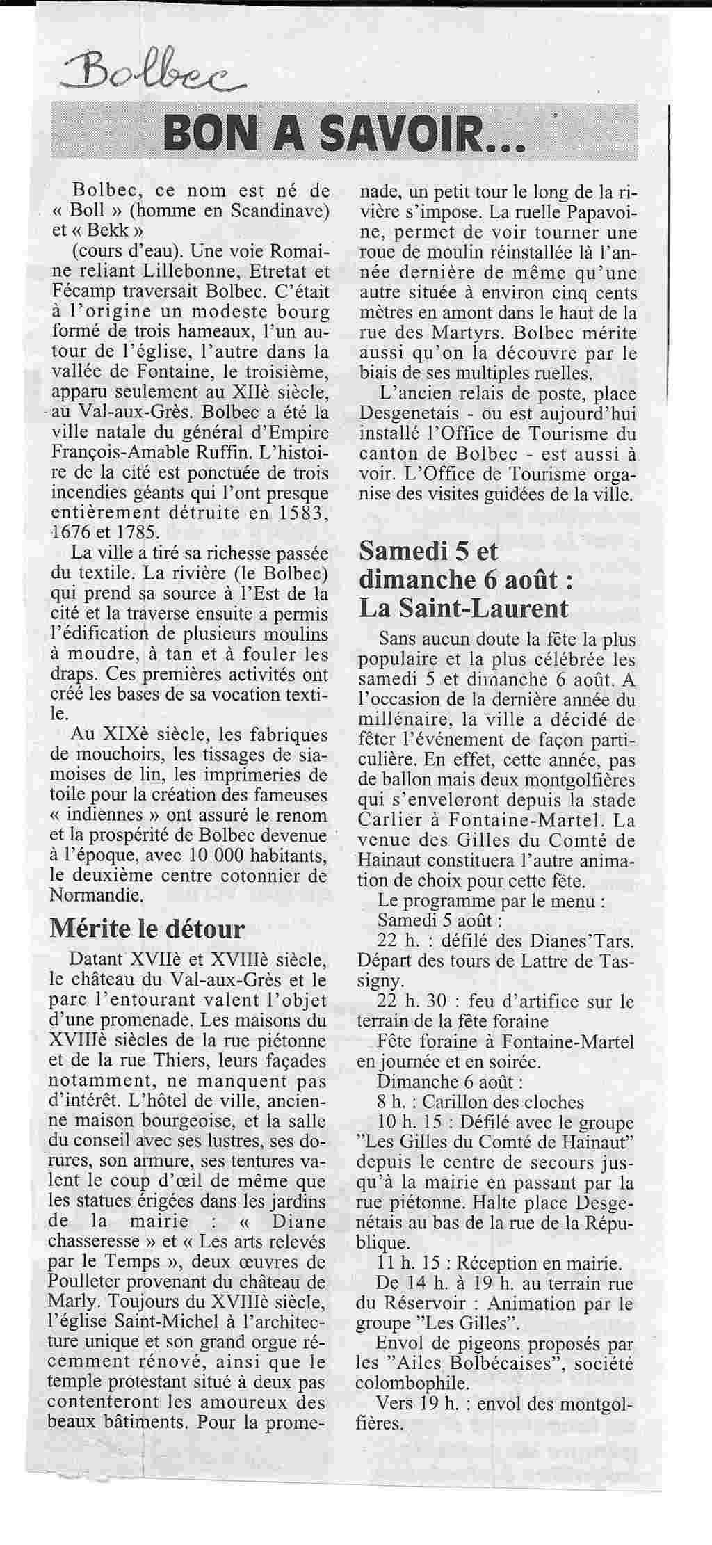 Saint - Histoire des communes - Bolbec Bolbec22