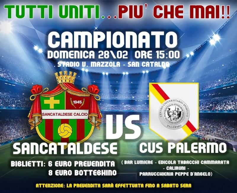 Campionato 24°giornata: Sancataldese - c.u.s. palermo 3-1 12744410