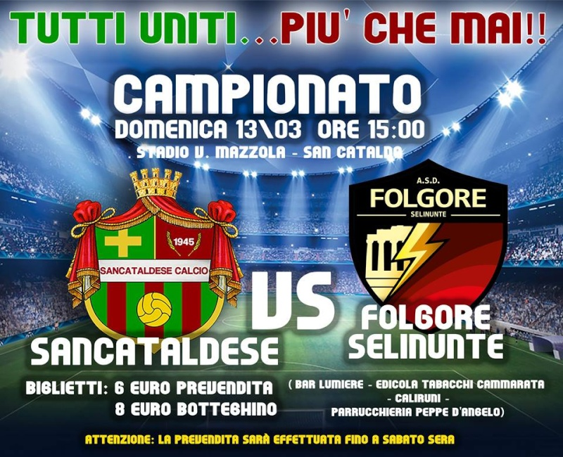 Campionato 26°giornata: Sancataldese - folgore selinunte 1-0 12813910