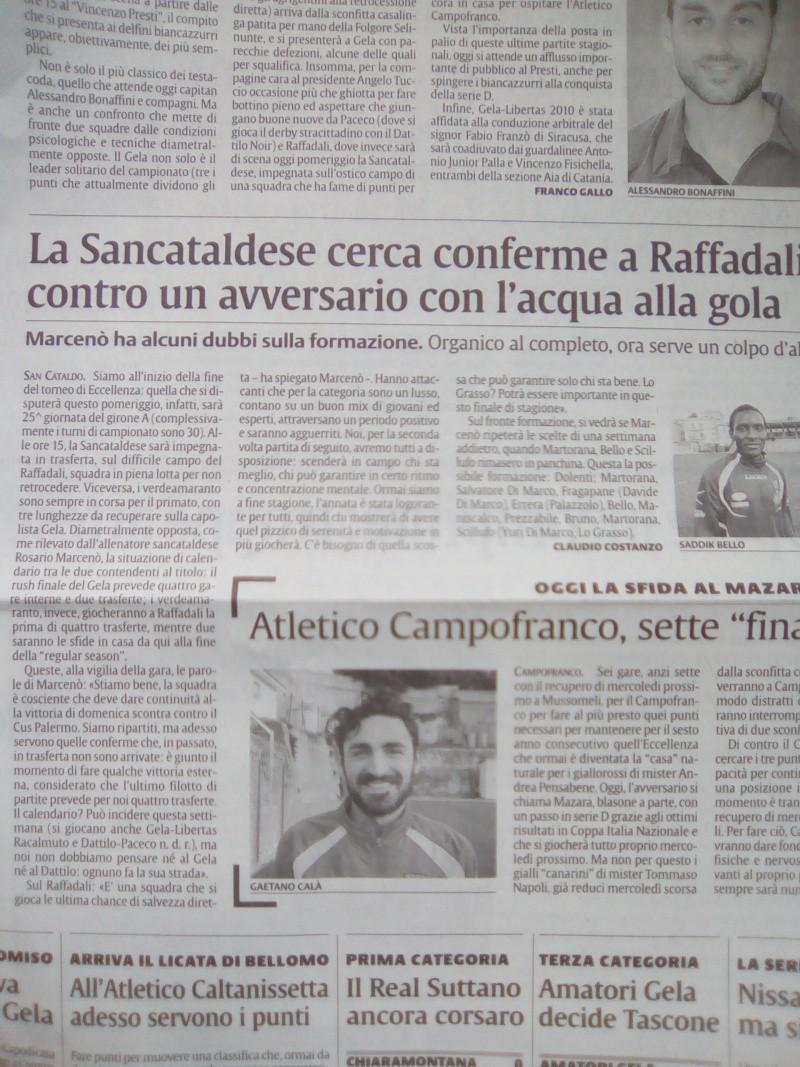 Campionato 25°giornata: raffadali - Sancataldese 1-1 Img_2018