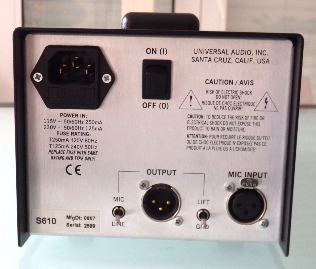 Universal Audio Solo / 610..... Vendu Pb180011