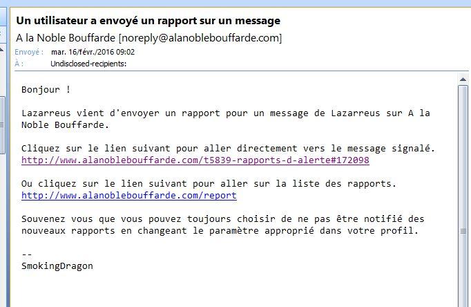 Rapports d'alerte Captur10