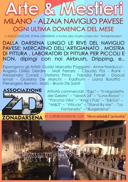 """MERCATINO """"Arte&Mestieri"""" - MILANO, ALZAIA NAVIGLIO PAVESE - Mercatini&Curiosità Locand10"""