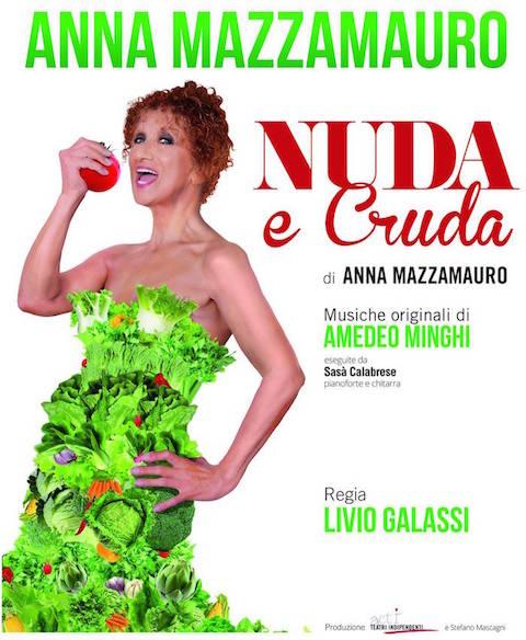 NUDA E CRUDA - IL RECITAL ANNA MAZZAMAURO TEATRO COMUNALE CITTA' DI CAVE Nudaec10