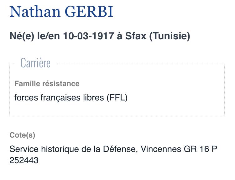 Recherche de temoignages sur Nathan GERBI mon oncle Efa75810