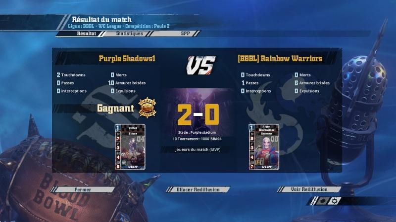 [Cifer] Purple Shadows1  2  -  0  (BBBL)Rainbow Warriors [Momienova] Match114