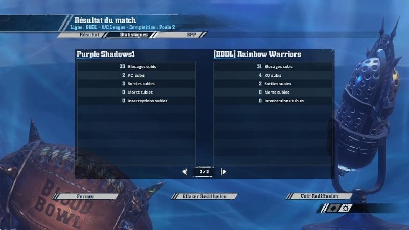 [Cifer] Purple Shadows1  2  -  0  (BBBL)Rainbow Warriors [Momienova] Match116