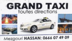 Grand taxi : Mezgouri Hassan 06 66 07 49 09 Taxi11