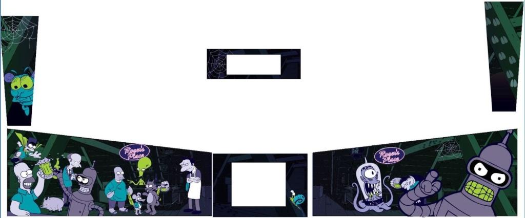 [TERMINE] Pincab de Darklvador, Thème American Dad - Simpson - Futurama Captur12