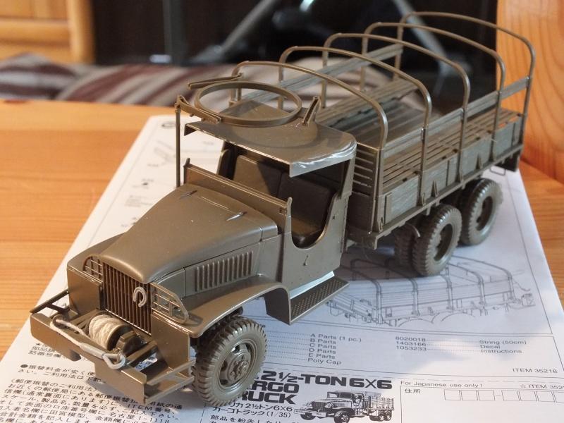 US 2 1/2 Ton 6X6 Cargo Truck Tamiya 35218 avec accessoire 35231 Dscf8811