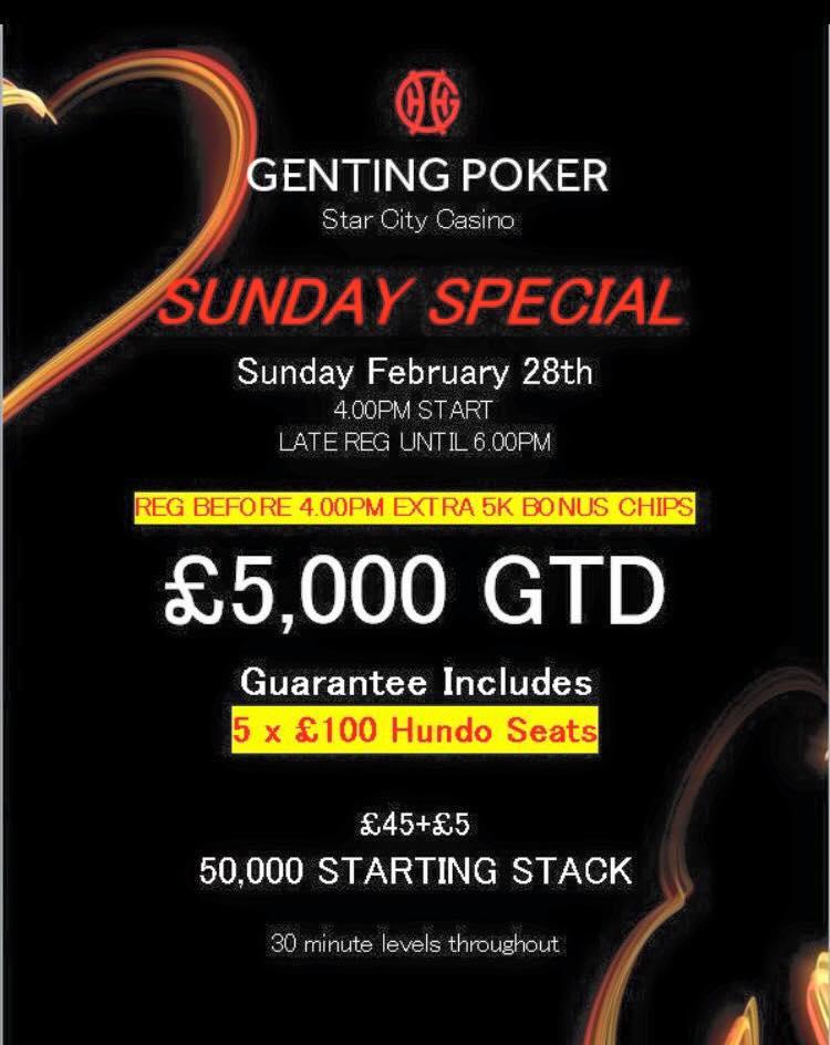 Special Sunday at Star City Sundat10